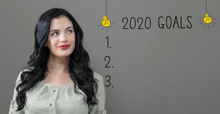 A woman considers her goals for 2020